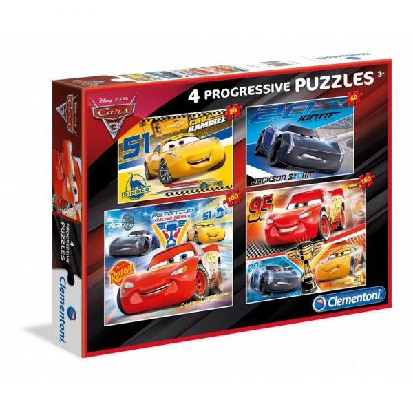 Disney Cars puzzle 4 u 1