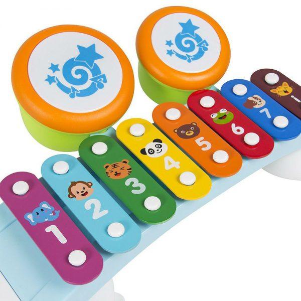 Dječja igračka ksilofon s bubnjevima