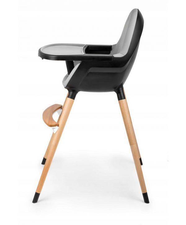 Dječja stolica za hranjenje Kinderkraft Fini crna