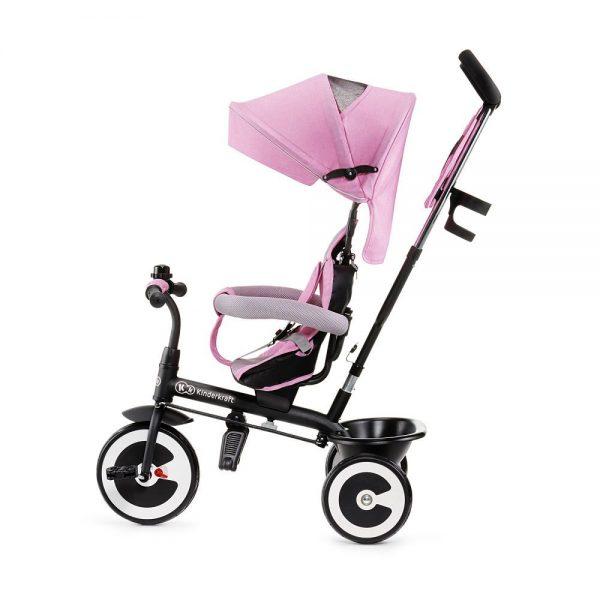Dječji tricikl Kinderkraft Aston guralica rozi