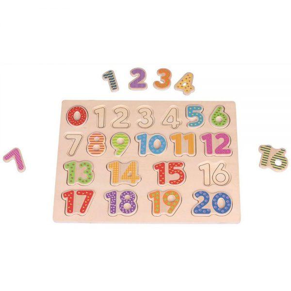 Drvena ploča s brojevima