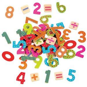 Drvene brojke s magnetima