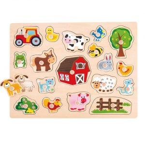 Drvene puzzle Na selu