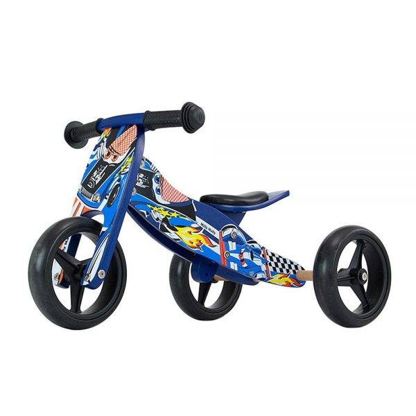 Drveni bicikl guralica Milly Mally 2 u 1 plavi