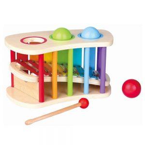 Drveni ksilofon s kuglicama