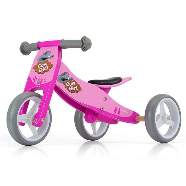 Drveni tricikl guralica Milly Mally
