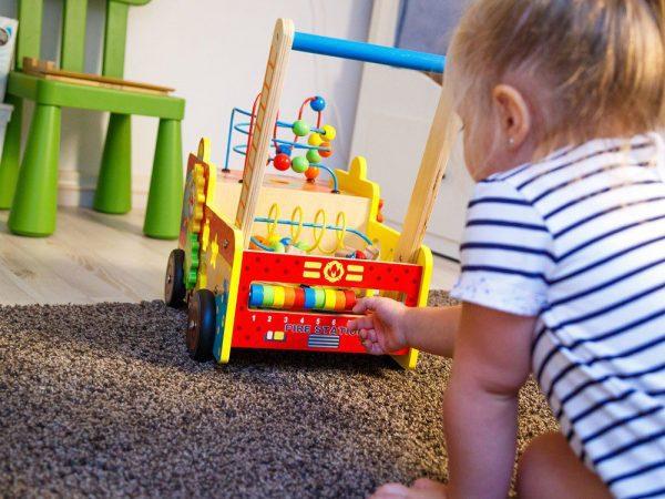 Drveni vatrogasni kamion igračke
