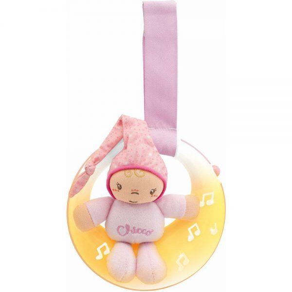 Glazbeni mjesec Chicco igračka za bebe roza