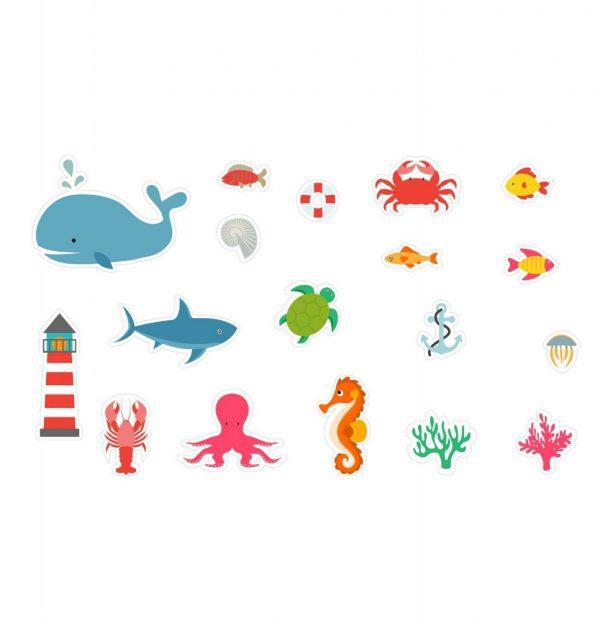 Igračke za kupanje od spužve Podvodni svijet