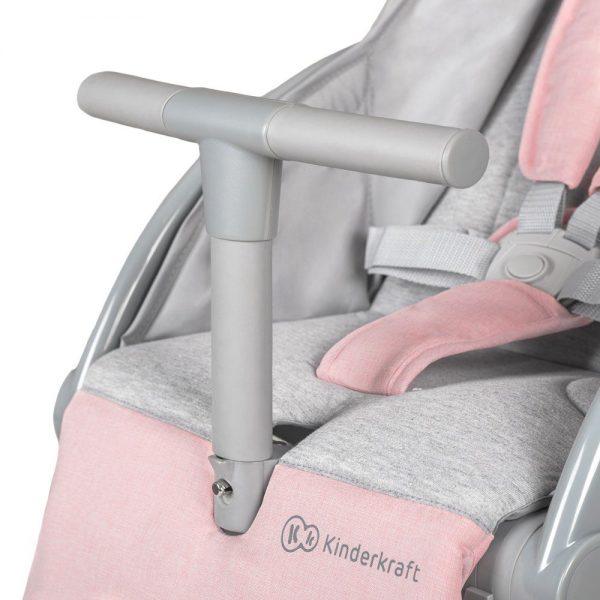Kinderkraft kolica Pilot sigurnosna prečka roza