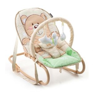 Ležaljka za bebe Kikka Boo Foliage medo