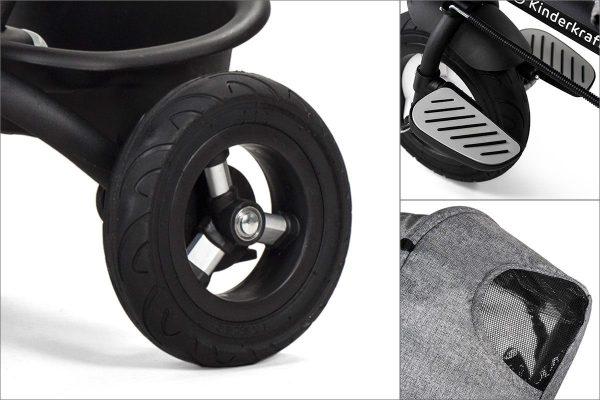 Tricikl guralica Kinderkraft Aveo- kotač i sjenilo