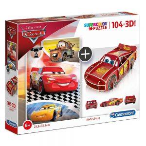 Clementoni puzzle Cars i 3D model