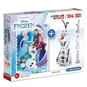 Clementoni puzzle Frozen i 3D model