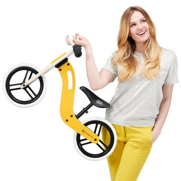 Dječji drveni bicikl Kinderkraft Uniq ručke za nošenje