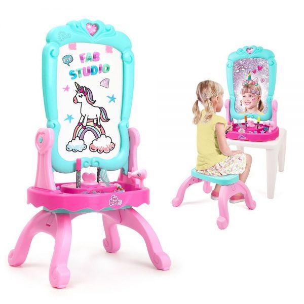 Dječji stolić s ogledalom Fab Studio 3 u 1