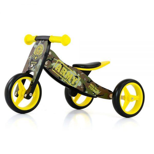 Drveni bicikl guralica 2 u 1 Milly Mally Army