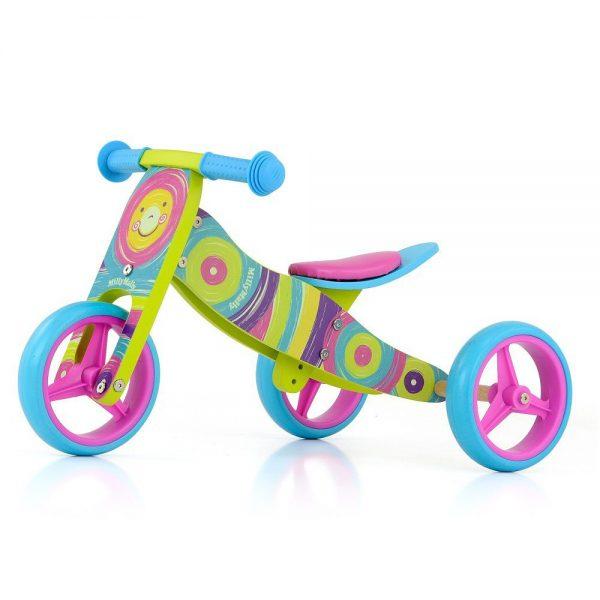 Drveni bicikl guralica 2 u 1 Milly Mally Duga