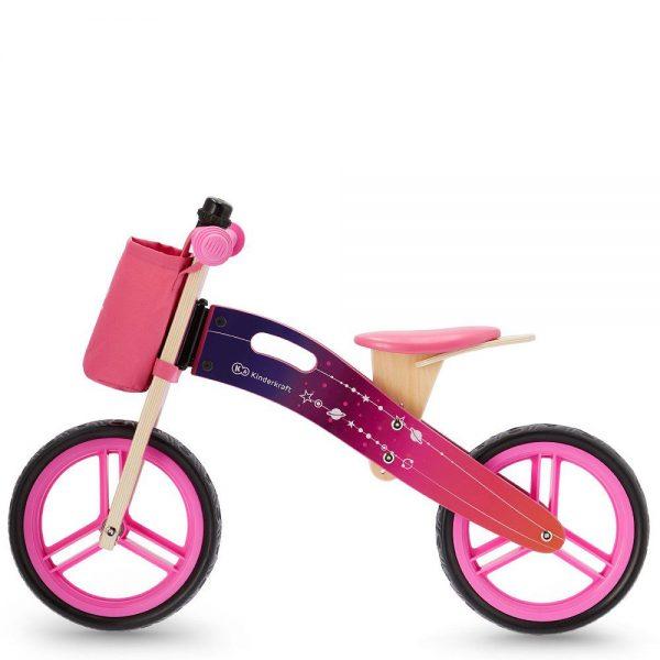Drveni bicikl bez pedala Kinderkraft Runner rozi