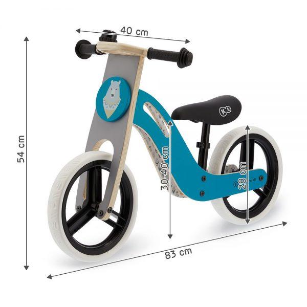 Drveni bicikl bez pedala Kinderkraft Uniq dimenzije