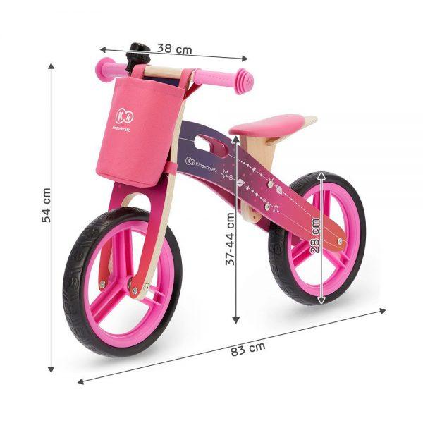 Drveni bicikl Kinderkraft Runner dimenzije