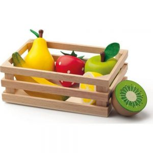 Drveni sanduk s voćem