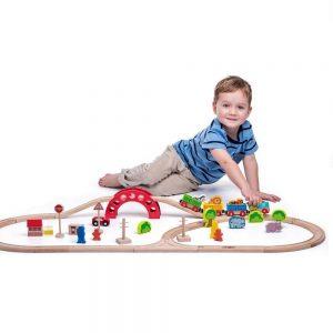 Drveni vlak s tračnicama Zoološki vrt