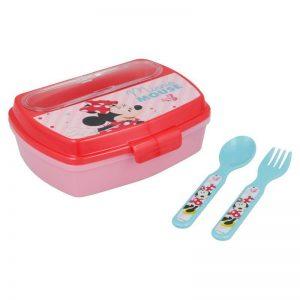 Kutija za užinu s priborom Minnie Mouse