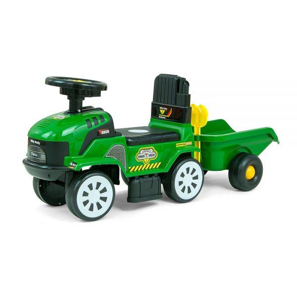 Traktor guralica s prikolicom Milly Mally zeleni