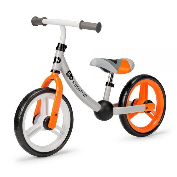 Bicikl bez pedala Kinderkraft 2Way Next narančasti