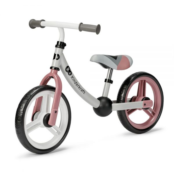 Bicikl bez pedala Kinderkraft 2Way Next rozi
