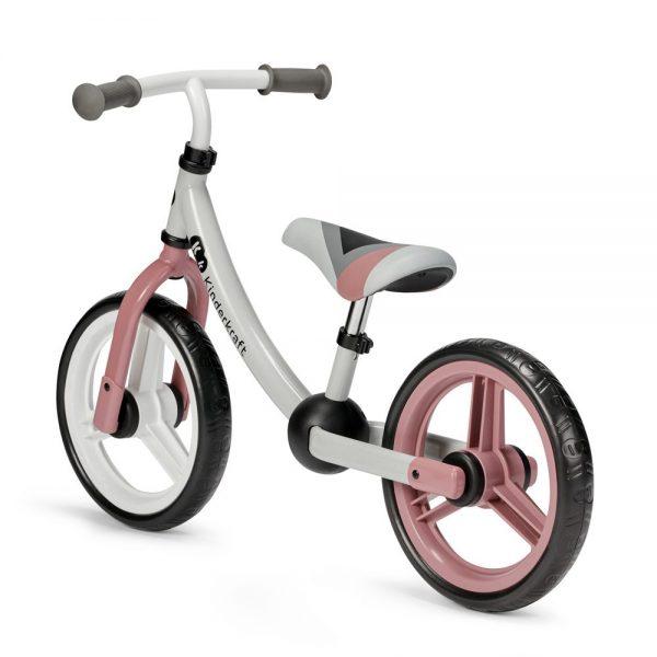 Bicikl bez pedala Kinderkraft 2Way rozi