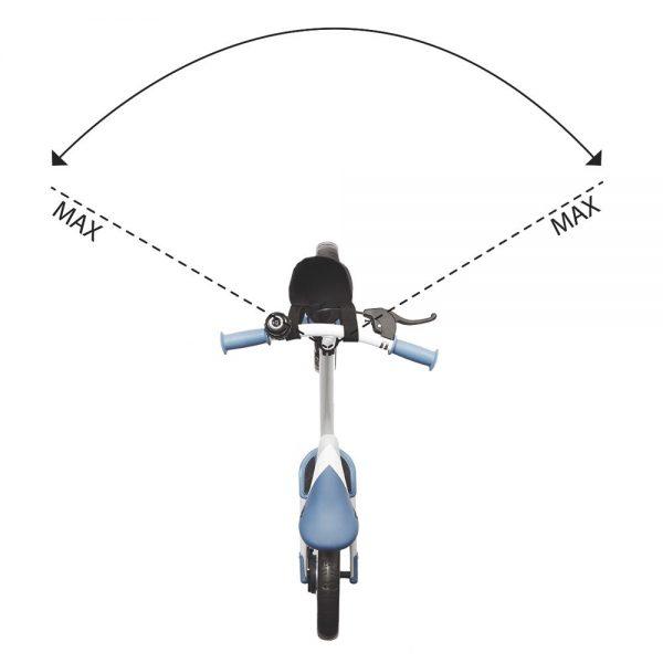 Bicikl Kinderkraft Space kut skretanja