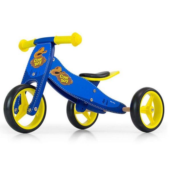 Drveni bicikl 2 u 1 Milly Mally Cowboy