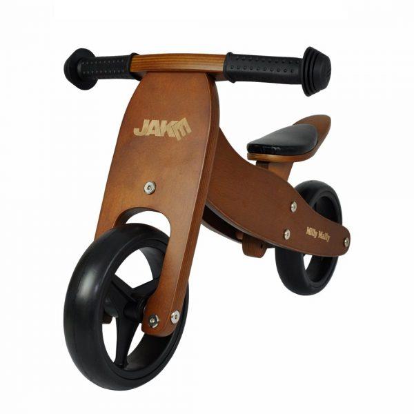 Drveni bicikl 2 u 1 Milly Mally Jake Dark Natural