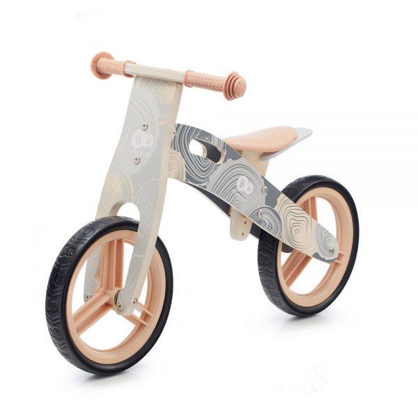 Drveni bicikl bez pedala Kinderkraft Runner sivi