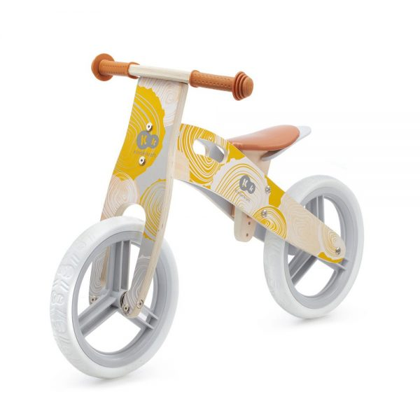 Drveni bicikl bez pedala Kinderkraft Runner žuti