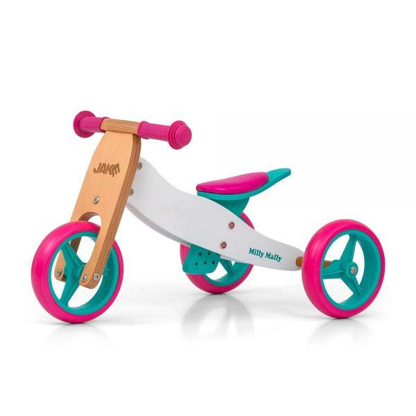 Drveni bicikl guralica 2 u 1 Milly Mally Candy