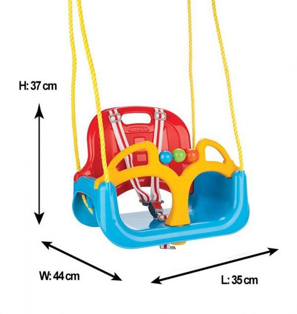 Ljuljačka za djecu 3 u 1 dimenzije