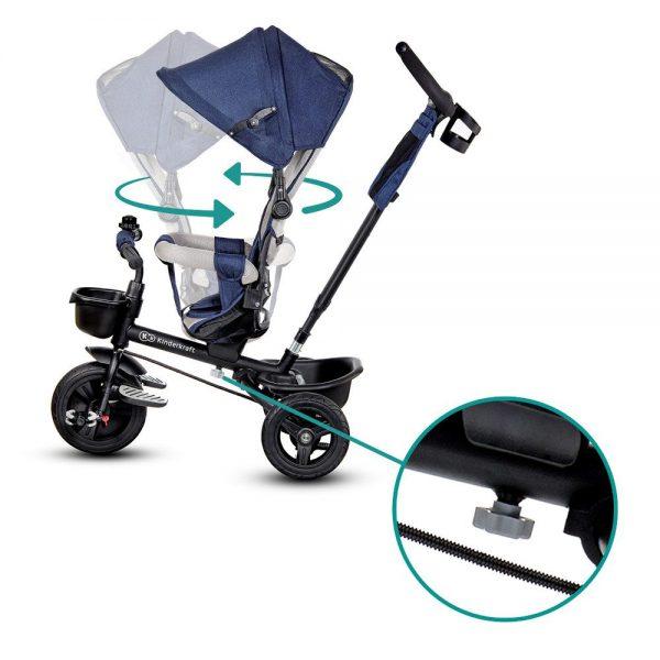 Tricikl Kinderkraft Aveo rotiranje sjedala