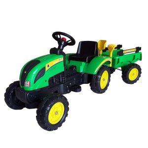 Dječji traktor na pedale s prikolicom