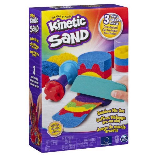 Kinetički pijesak s dodacima Dugine boje