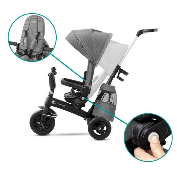 Dječji tricikl Kinderkraft EasyTwist nagib naslona