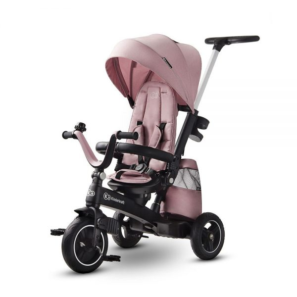 Dječji tricikl Kinderkraft Easytwist rozi