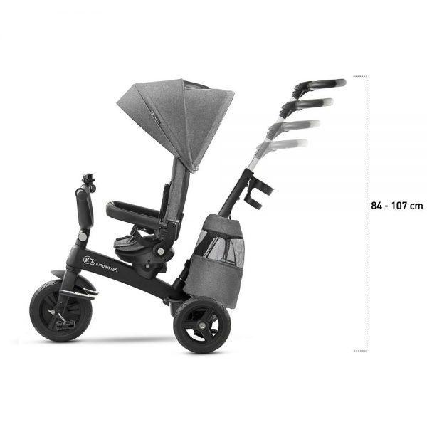 Dječji tricikl Kinderkraft EasyTwist sivi
