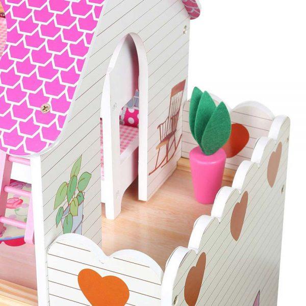Kućica za lutke sa svjetlom balkon