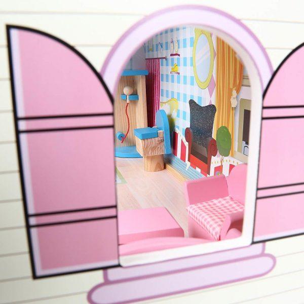 Kućica za lutke sa svjetlom prozor