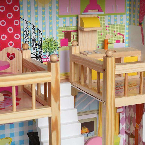 Kućica za lutke sa svjetlom stepenice
