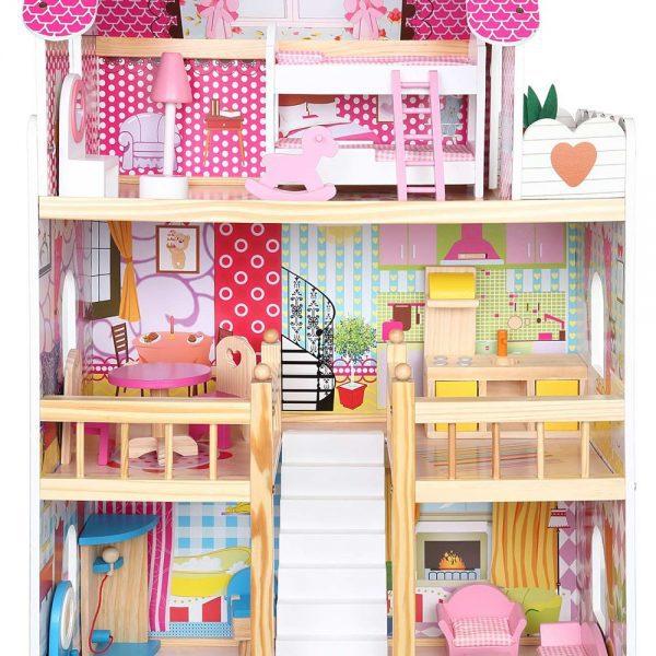 Kućica za lutke sa svjetlom unutrašnjost