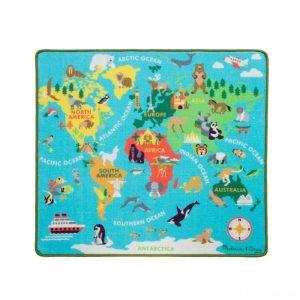 Dječji tepih s dodacima za igru Karta svijeta